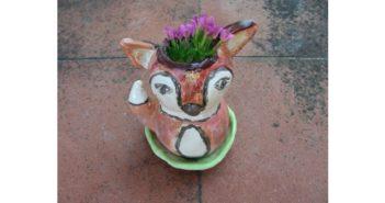 Immagine di un vasetto volpe e sottovaso