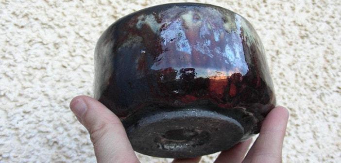 Ciotola da tea in ceramica raku