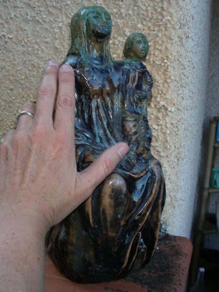 Immagine di un Madonna col bambino proporzioni