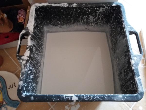 Immagine del bagno di cristallina nel laboratorio di Terra Accesa