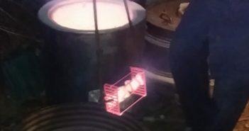 Immagine dell'estrazione dei libretti in ceramica da forno raku