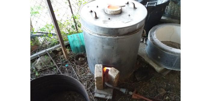Immagine del forno a gas in funzionamento