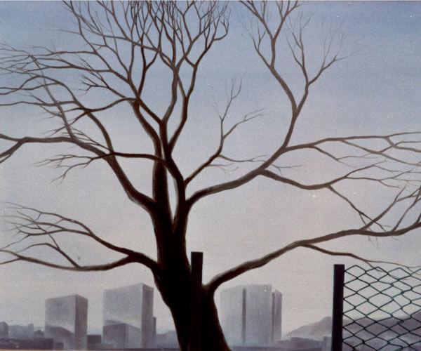 Immagine di un dipinto di Fulvio Filidei, albero