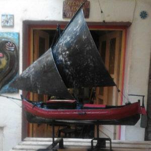 Immagine di una vascello in ferro,opera di Giacomo Fossati