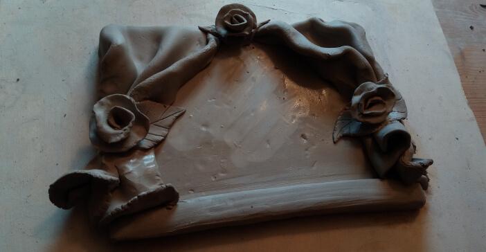 Immagine del palcoscenico del numero civico in ceramica