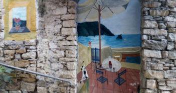 Dipinto su muro a Costarainera