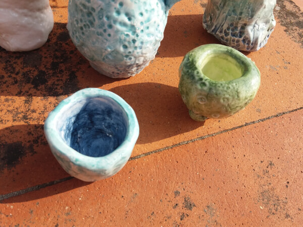 Immagine di coppette in ceramica artigianale